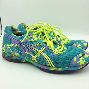 ASICS Gel Frantic 7 shoes blue purple neon running